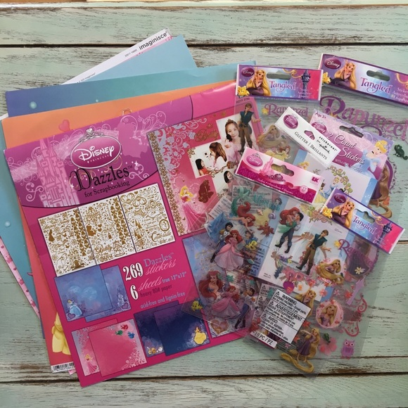 Disney CINDERELLA /& Other Princesses Set of 3 12x12 Papers